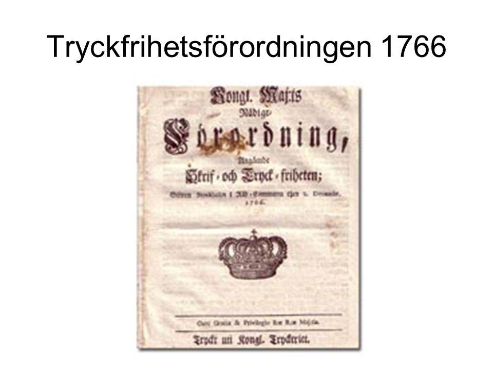 Tryckfrihetsförordningen 1766