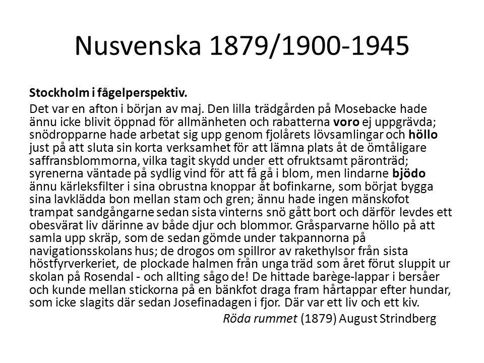 Nusvenska 1879/1900-1945 Stockholm i fågelperspektiv.