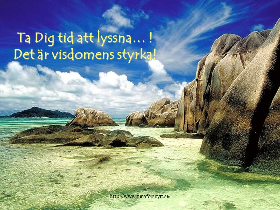 Ta Dig tid att läsa… Det är kunskapens källa! http://www.tunaforsnytt.se/