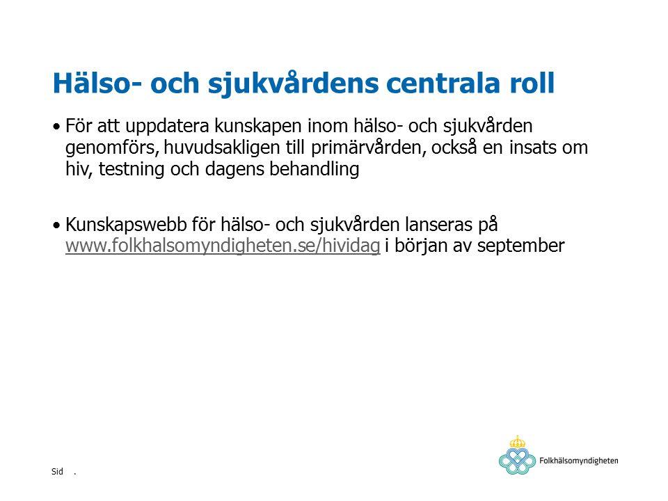 . Sid Kort om hiv Hiv står för humant immunbristvirus Hiv angriper kroppens t-hjälparceller vilka har en avgörande betydelse för immunförsvaret Låga nivåer av t-hjälparceller ökar risken för så kallade opportunistiska infektioner och tumörsjukdomar av vilka flera ingår i förvärvat immunbristsyndrom (aids) Idag lever över 35 miljoner människor i världen med hiv I Sverige lever cirka 7 000 personer med känd hivdiagnos.