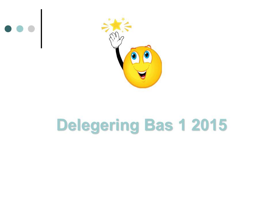 Delegering Bas 1 2015