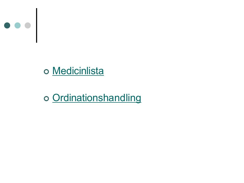 Medicinlista Ordinationshandling