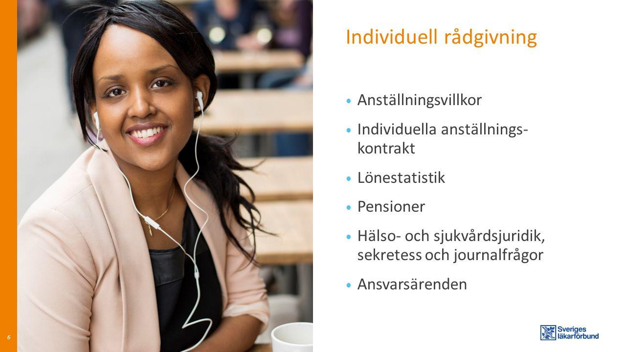 Individuell rådgivning Etik Egen praktik Utbildningsvillkor Förhandlingshjälp Kollegialt nätverk 7