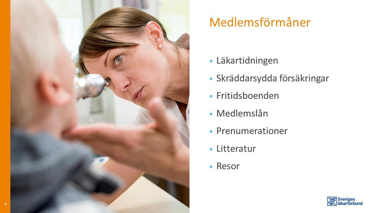 Medlemsförmåner Läkartidningen Skräddarsydda försäkringar Fritidsboenden Medlemslån Prenumerationer Litteratur Resor 8