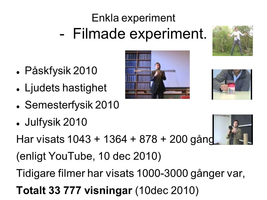 Enkla experiment - Filmade experiment.