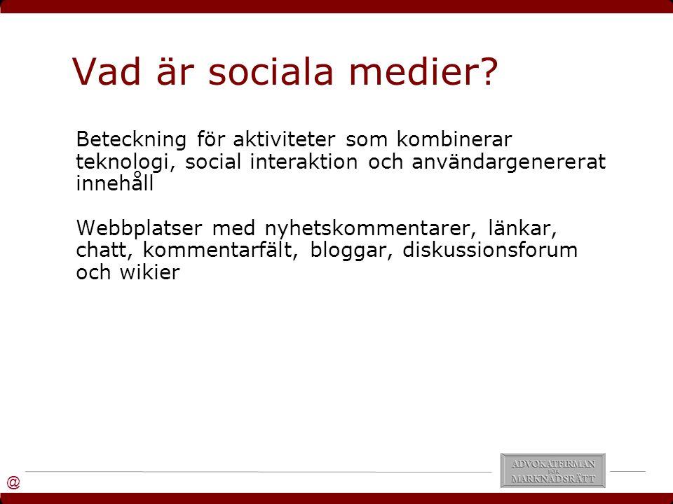 @ Vad är sociala medier.