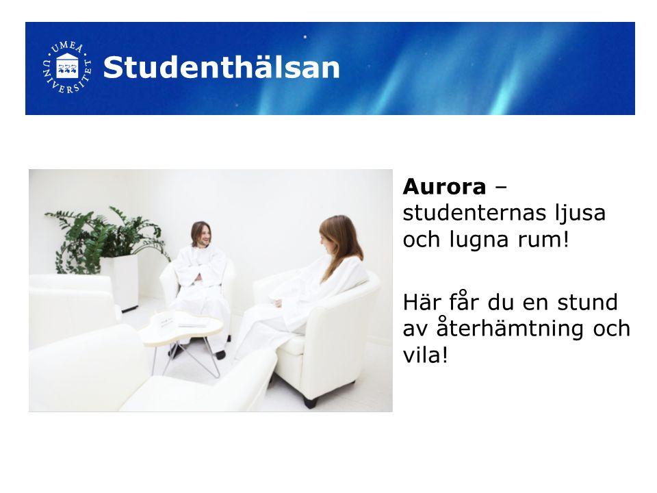 Aurora – studenternas ljusa och lugna rum! Här får du en stund av återhämtning och vila!