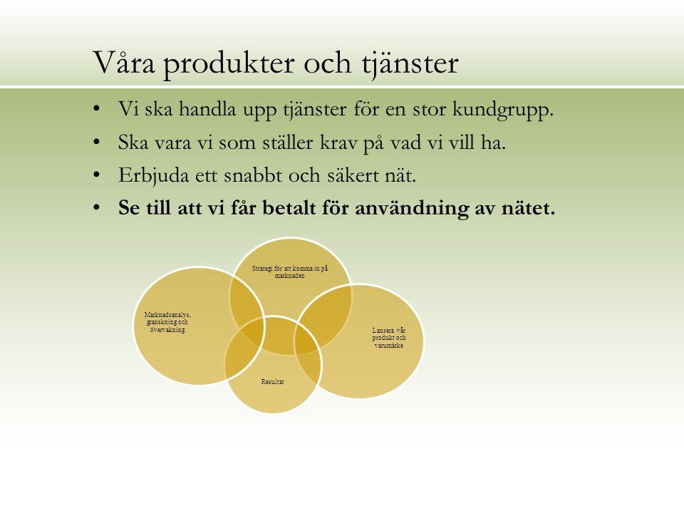 Resultat hittills Skredsviks Fiber upphandlade drift o underhåll Gjordes som ett ramavtal Priset vi fick blev bättre än förväntat.