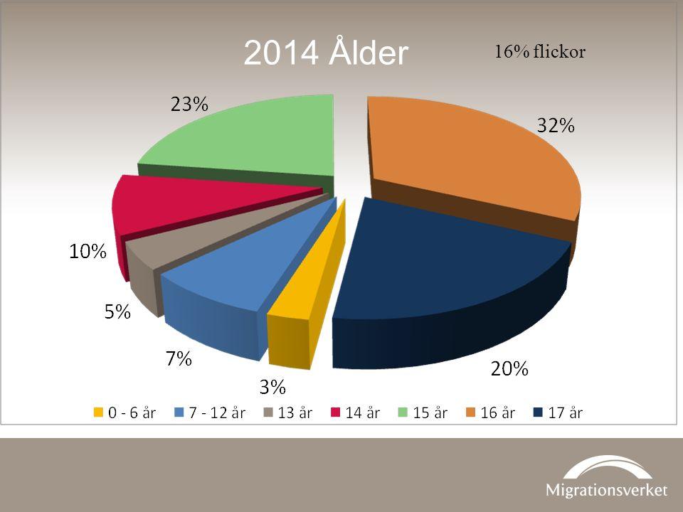 2014 Ålder 16% flickor