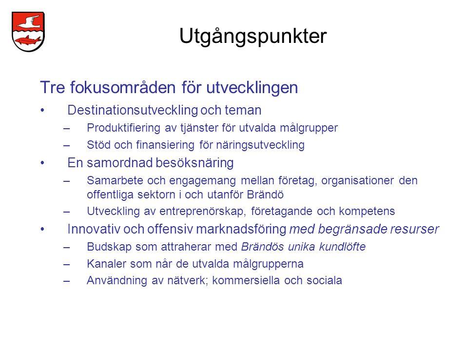 Utveckling av Brändös livsmedels- och närmatkoncept Livsmedelskoncept för olika affärsidéer (skall prioriteras) –Närmat för restauranger i Brändö (inkl.
