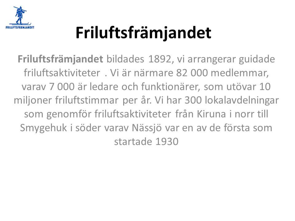 Lite historia 1892 Bildades Föreningen för skidlöparens främjande i Sverige.