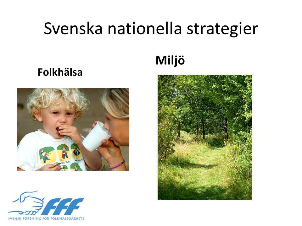 Svenska nationella strategier Folkhälsa Miljö