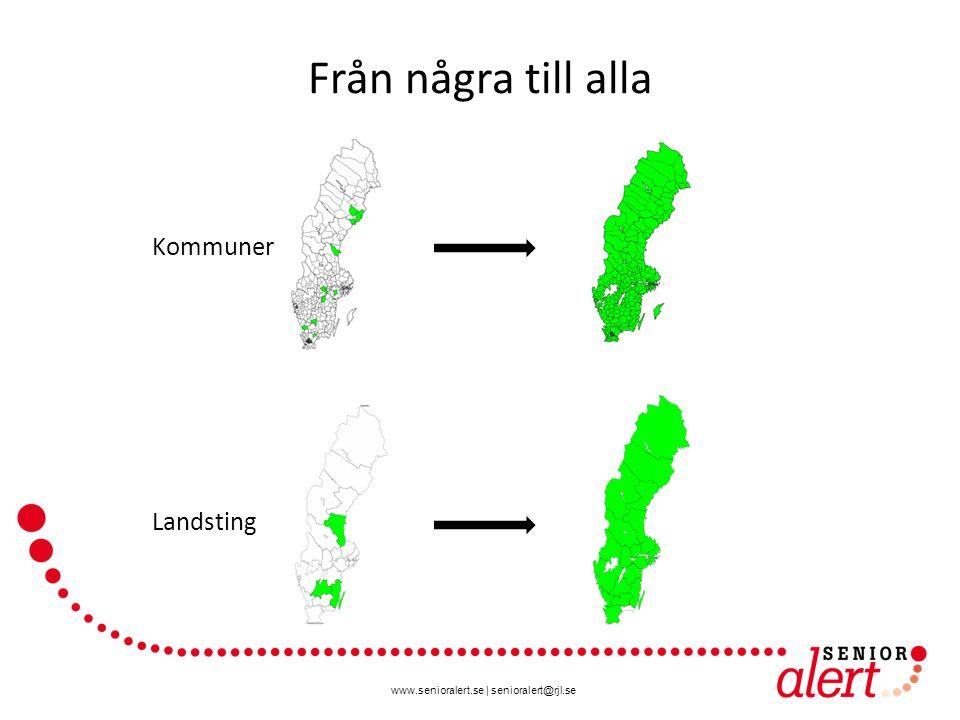 www.senioralert.se | senioralert@rjl.se Från några till alla Kommuner Landsting
