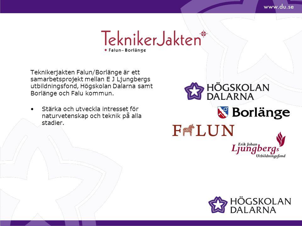 Teknikerjakten Falun/Borlänge är ett samarbetsprojekt mellan E J Ljungbergs utbildningsfond, Högskolan Dalarna samt Borlänge och Falu kommun. Stärka o