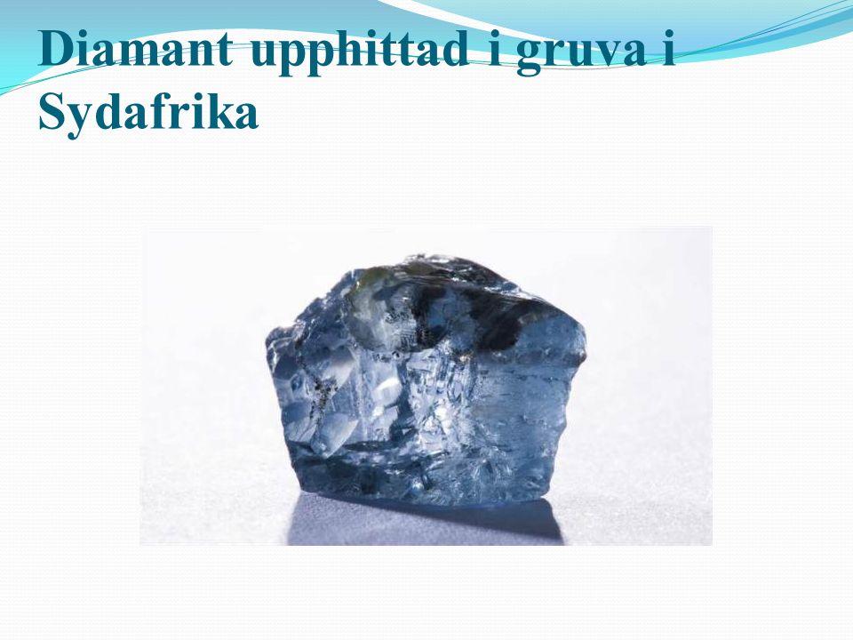 Diamant upphittad i gruva i Sydafrika