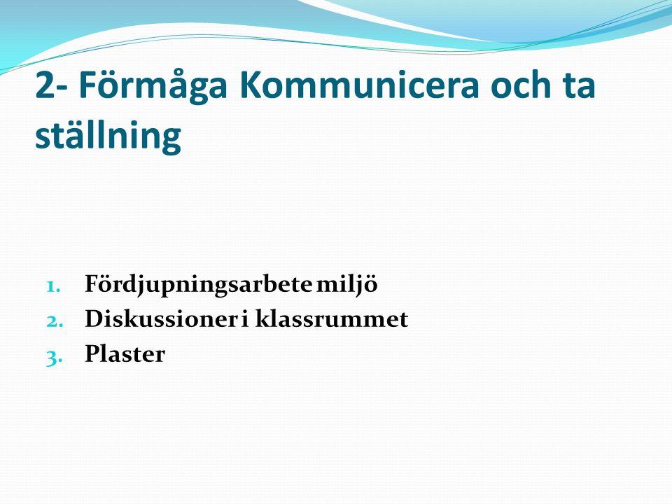 3- Förmåga Systematiska undersökningar Laborationer 1.