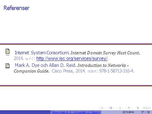 Referenser Internet System Consortium. Internet Domain Survey Host Count. 2014. url : http://www.isc.org/services/survey/. http://www.isc.org/services