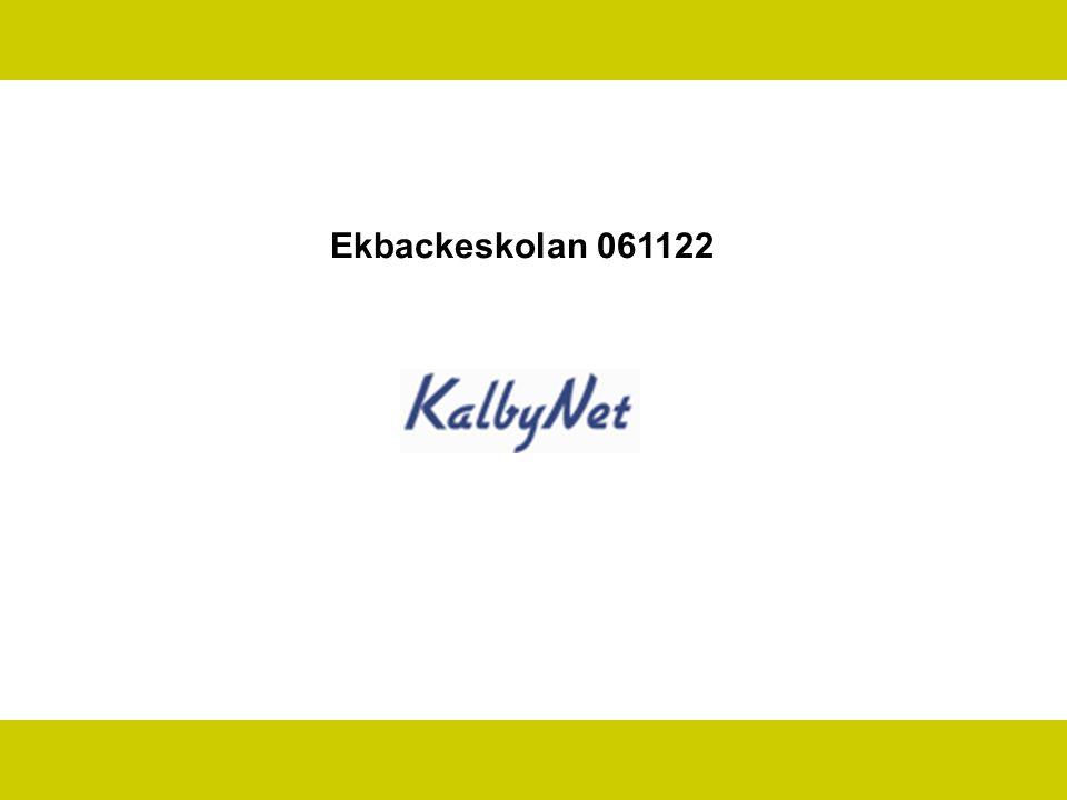 Program KalbyNet Kort om Internets utveckling Vad är Joomla.