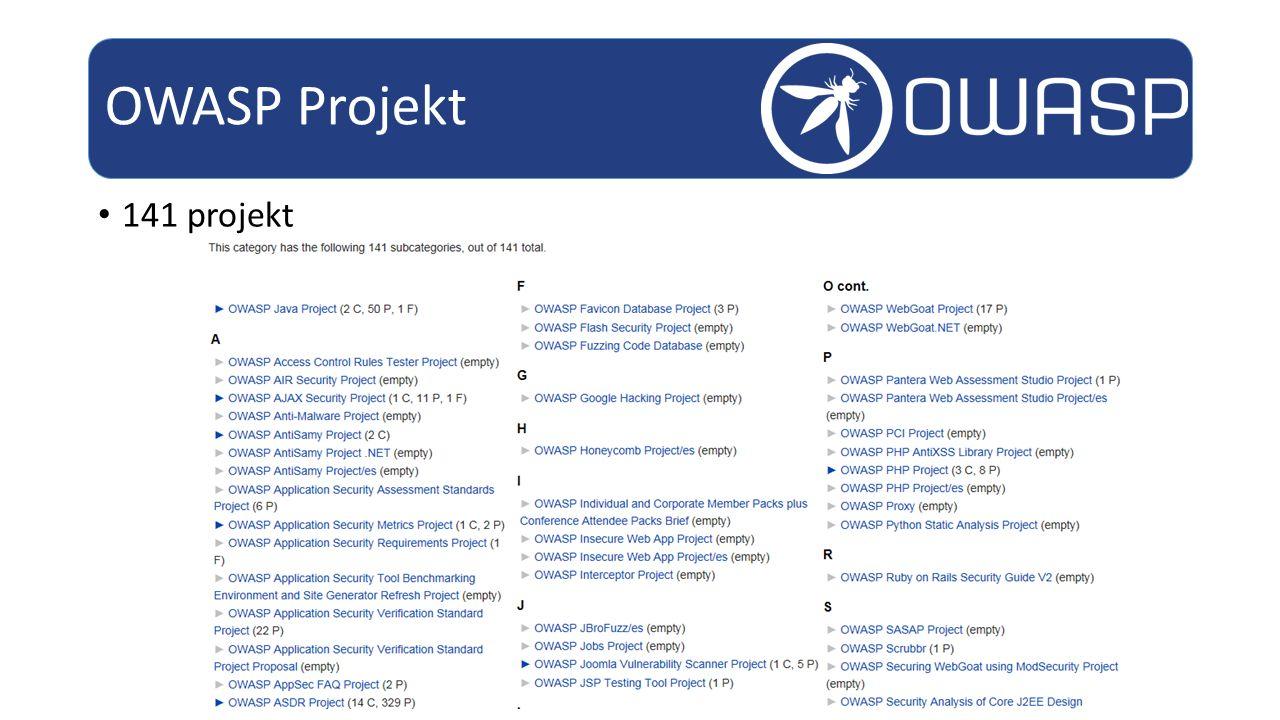 141 projekt OWASP Projekt