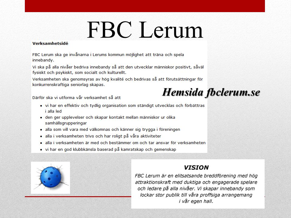 FBC Lerum Hemsida fbclerum.se