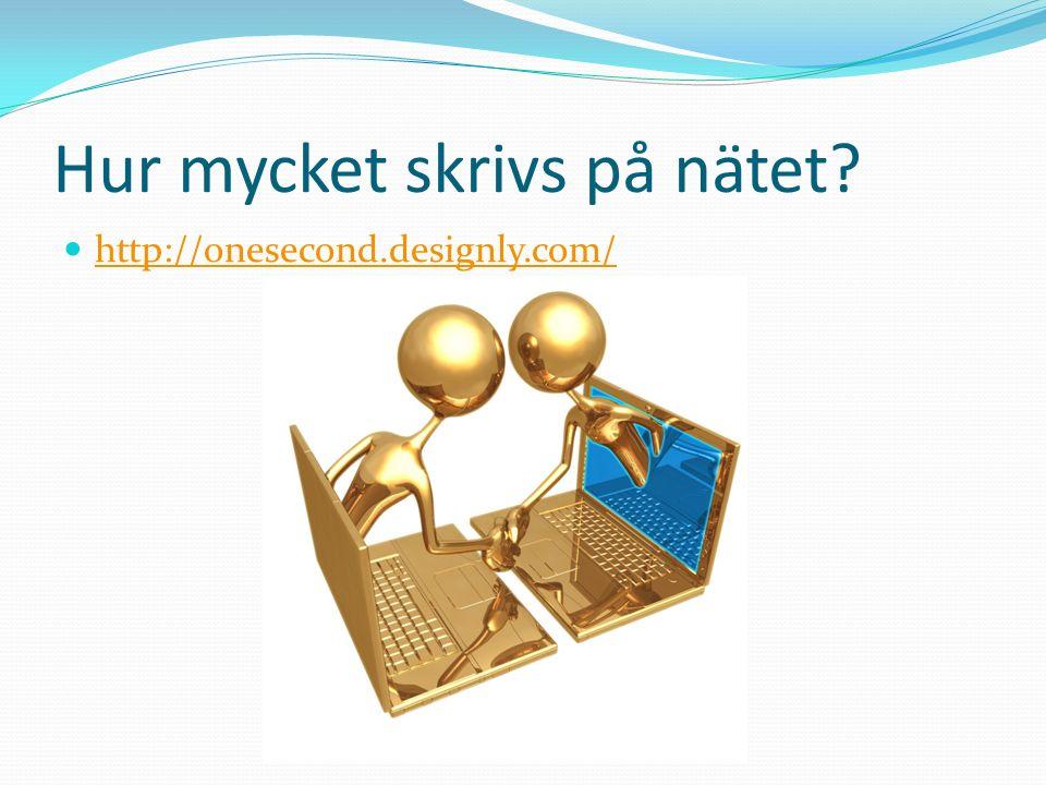 Hur mycket skrivs på nätet? http://onesecond.designly.com/