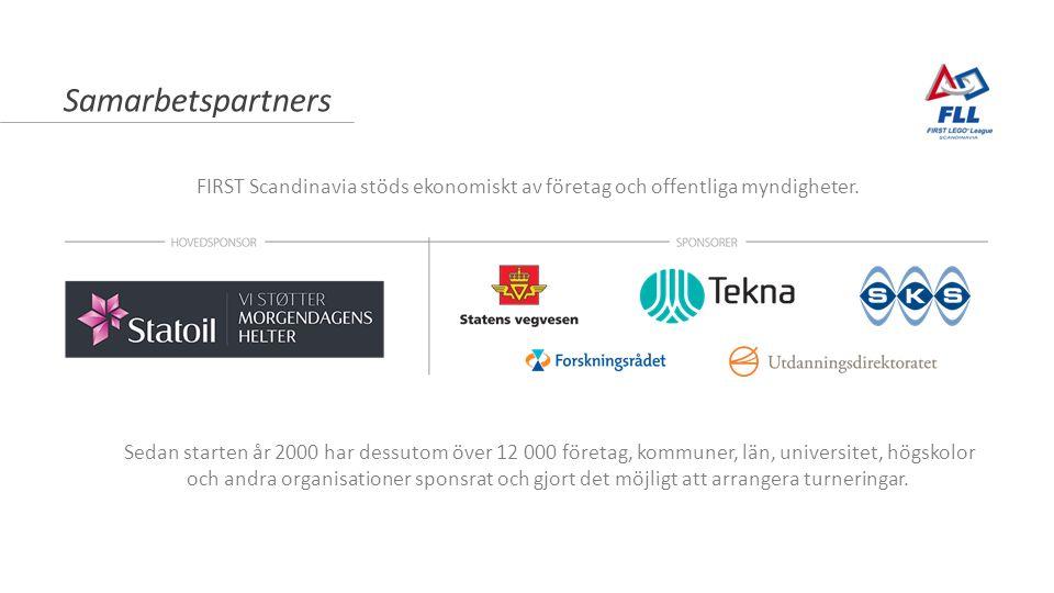 Samarbetspartners Sedan starten år 2000 har dessutom över 12 000 företag, kommuner, län, universitet, högskolor och andra organisationer sponsrat och gjort det möjligt att arrangera turneringar.
