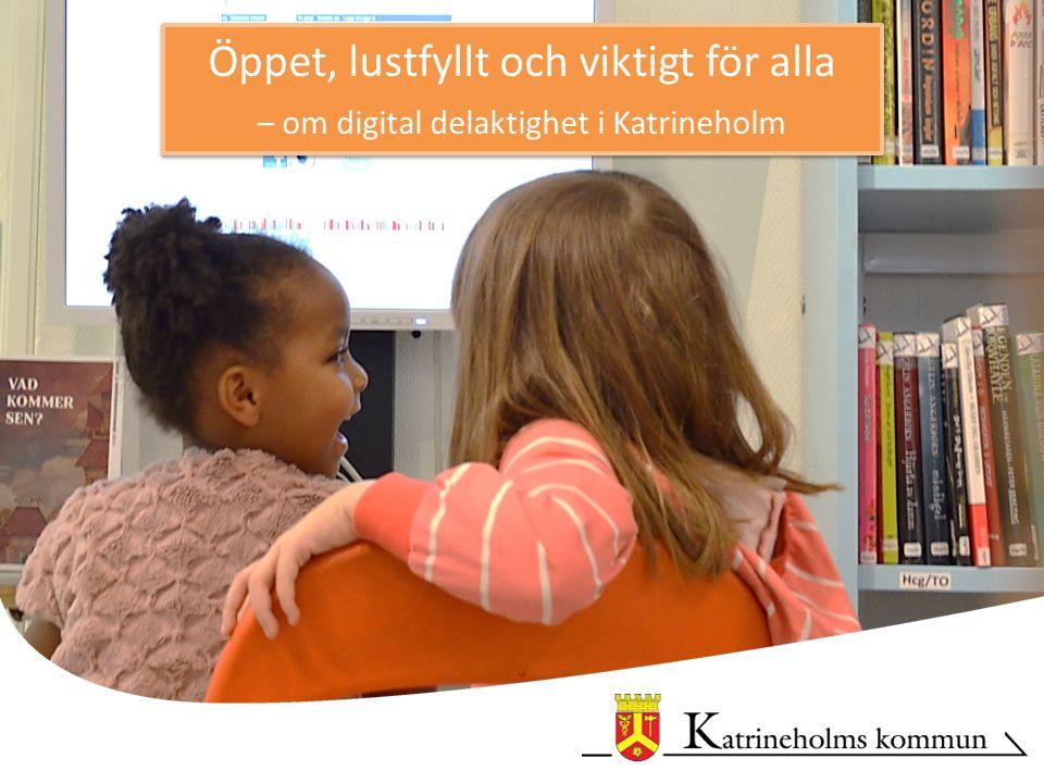Öppet, lustfyllt och viktigt för alla – om digital delaktighet i Katrineholm Öppet, lustfyllt och viktigt för alla – om digital delaktighet i Katrineholm