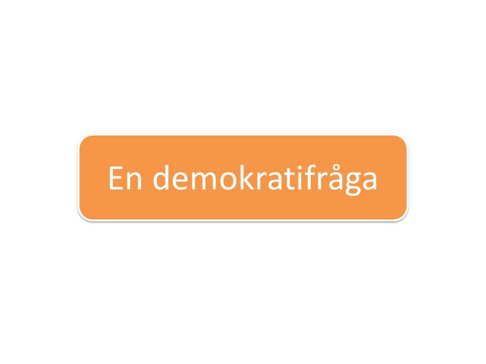 En demokratifråga