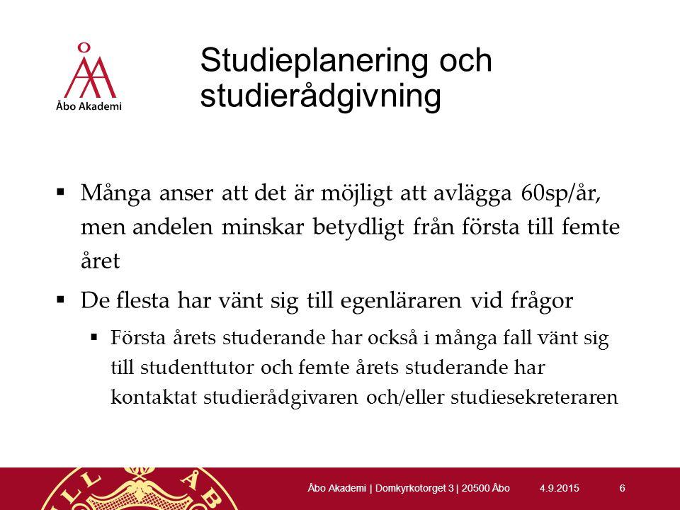 60sp/år 4.9.20157 Åbo Akademi | Domkyrkotorget 3 | 20500 Åbo