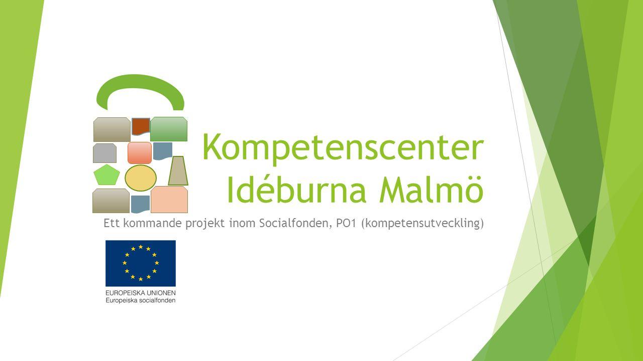 Kompetenscenter Idéburna Malmö Ett kommande projekt inom Socialfonden, PO1 (kompetensutveckling)