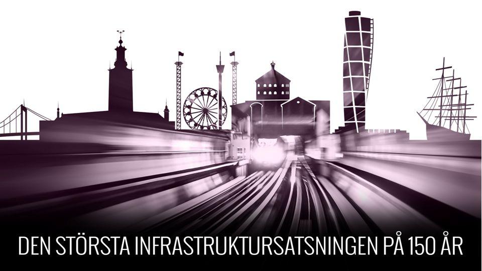 MÅLBILD 2035 2 timmar Stockholm – Göteborg 2,5 timmar Stockholm – Malmö Bättre kollektivtrafik i storstäderna 100 000 nya bostäder Utbyggd järnväg i norr Förbättrad tillgänglighet, framkomlighet och trafiksäkerhet för cyklister - tillväxt i hela Sverige