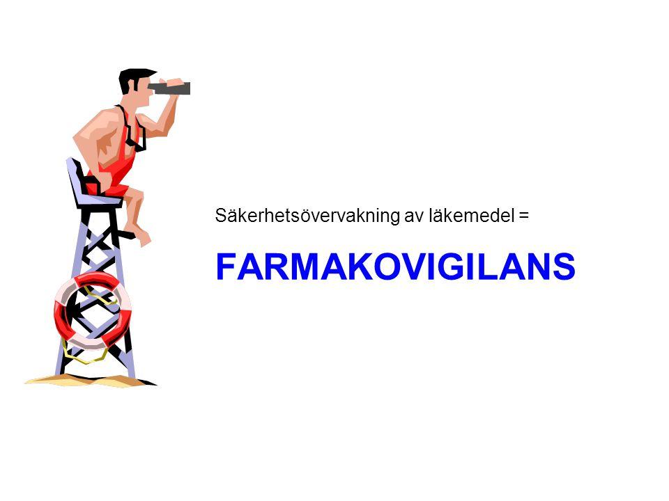 FARMAKOVIGILANS Säkerhetsövervakning av läkemedel =