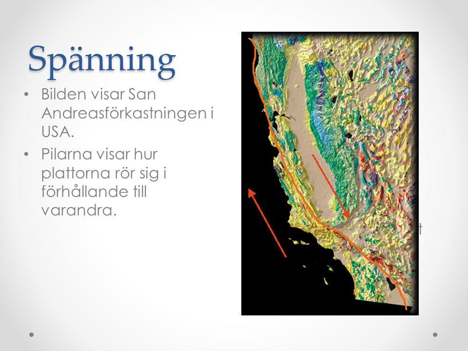 Vågor Jordskalv skapar chockvågor i marken som fortplantas med olika hastighet.