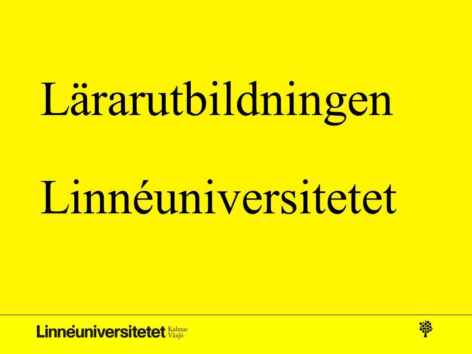 Lärarutbildningen Linnéuniversitetet