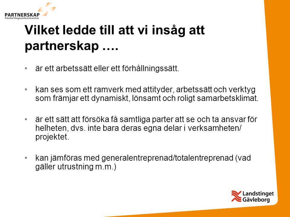 Men egentligen är partnerskap….
