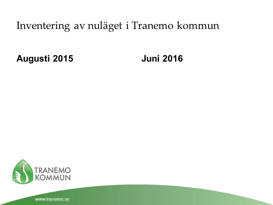 www.tranemo.se Inventering av nuläget i Tranemo kommun Augusti 2015Juni 2016