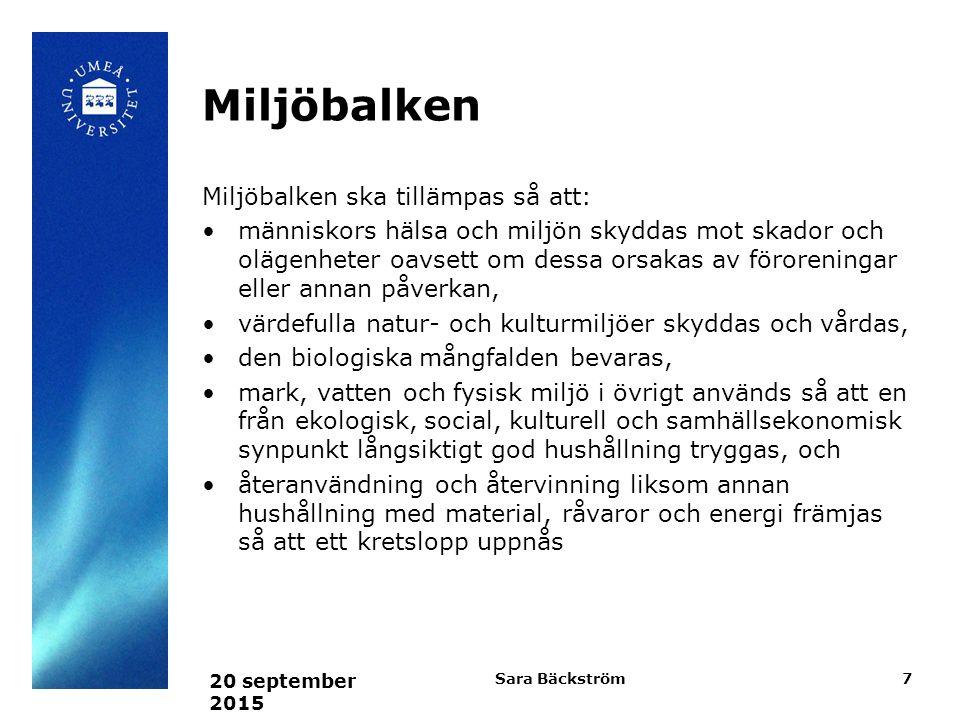 Järnvägslagen och väglagen Styr byggande av vägar och järnvägar Krav på myndigheter Säkerhetskrav Krav på kompetens för myndigheter 20 september 2015 Sara Bäckström8