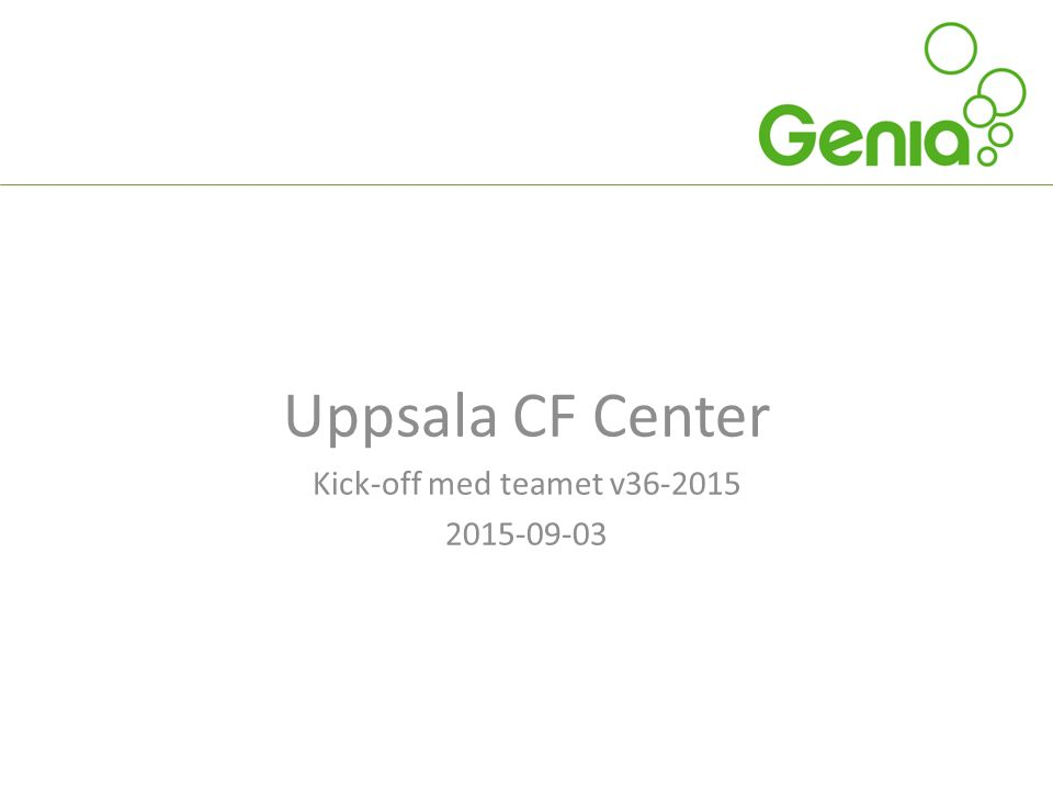 Uppsala CF Center Kick-off med teamet v36-2015 2015-09-03