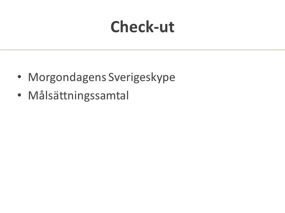 Check-ut Morgondagens Sverigeskype Målsättningssamtal