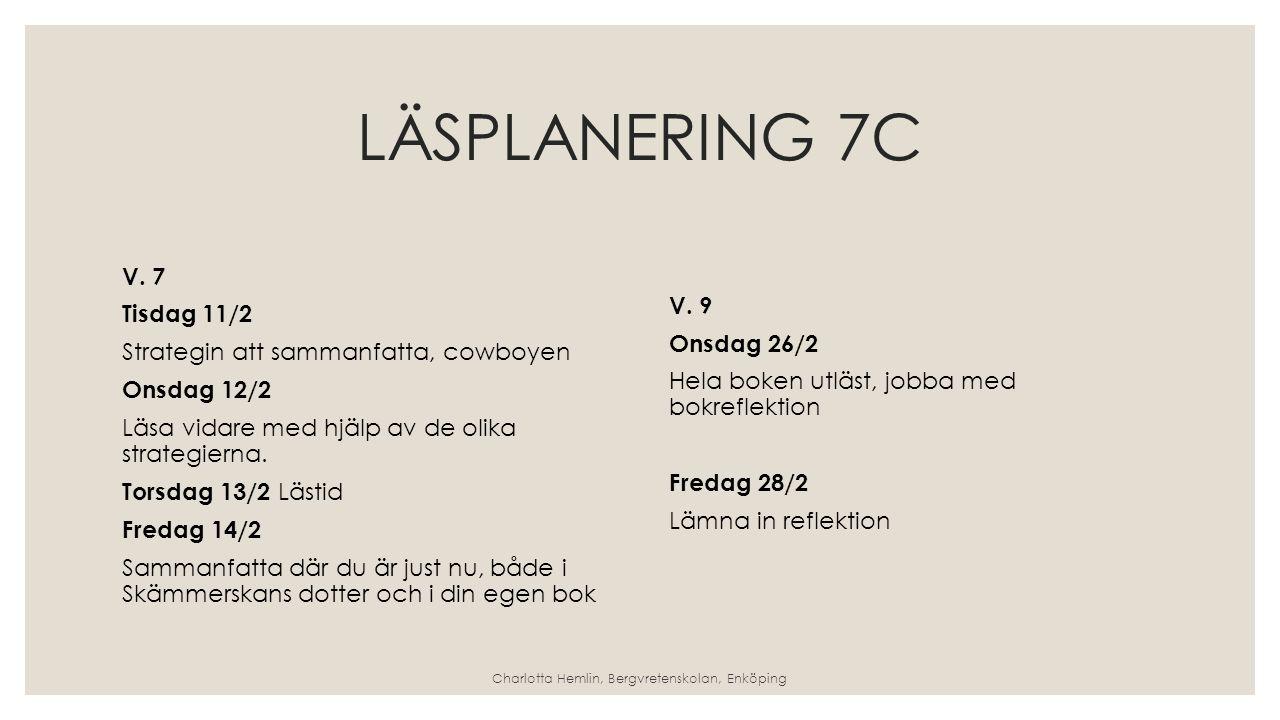 LÄSPLANERING 7C V.