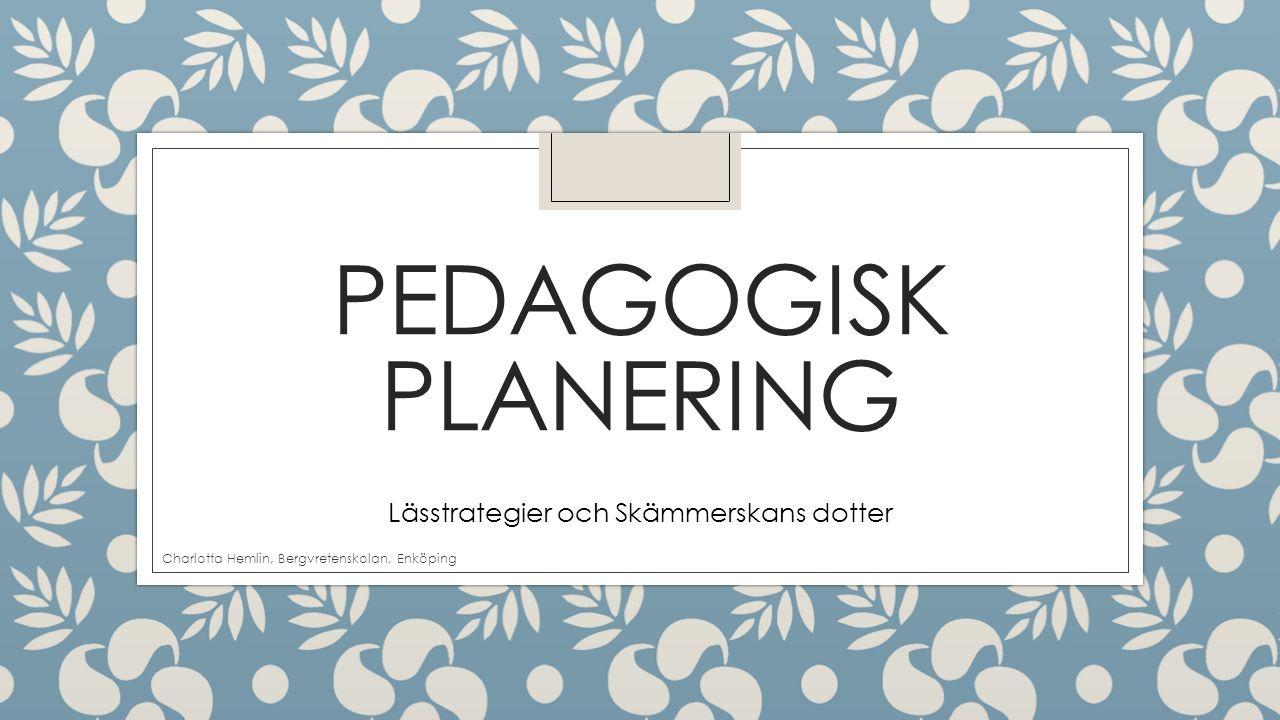 PEDAGOGISK PLANERING Lässtrategier och Skämmerskans dotter Charlotta Hemlin, Bergvretenskolan, Enköping