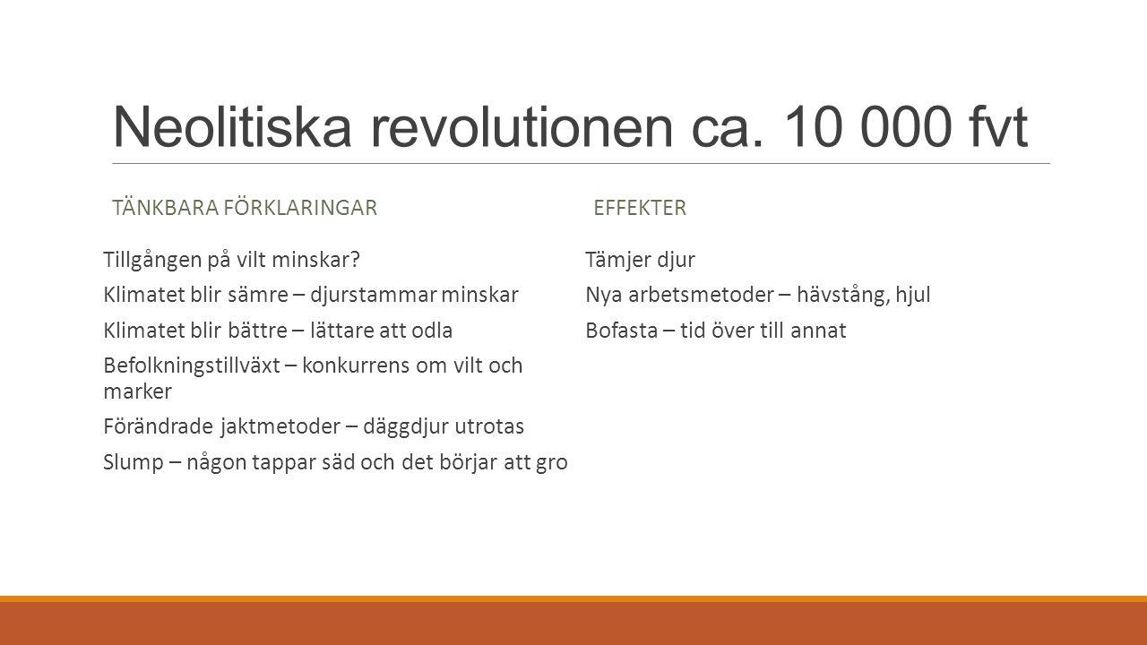 JÄGARSAMHÄLLET Nomadfolk Små grupper Jämlikhet.