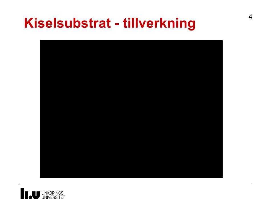Kiselsubstrat - tillverkning 4