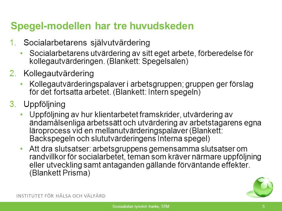 Spegeln, info6 Utnyttjande av Spegeln i klientarbetet Klient- arbetet börjar Läges- bedömning Läges- utredning En plan för social- arbetet uppgörs tills.
