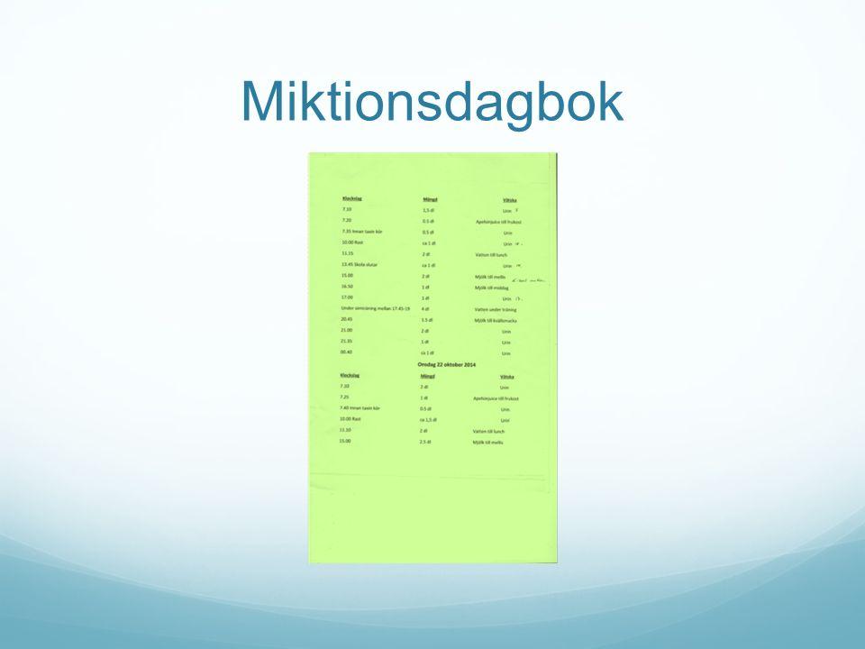Miktionsdagbok