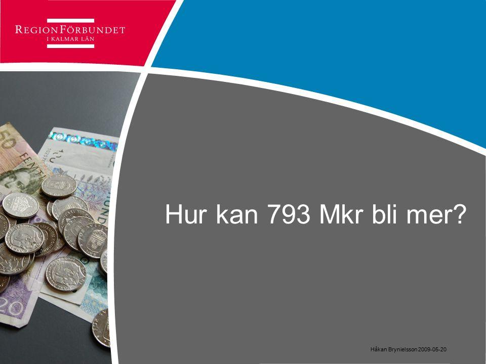 Hur kan 793 Mkr bli mer Håkan Brynielsson 2009-05-20