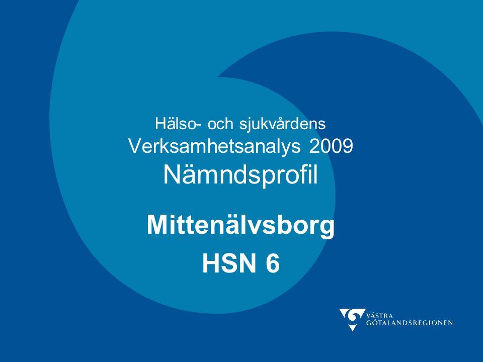 Hälso- och sjukvårdens Verksamhetsanalys 2009 Nämndsprofil Mittenälvsborg HSN 6