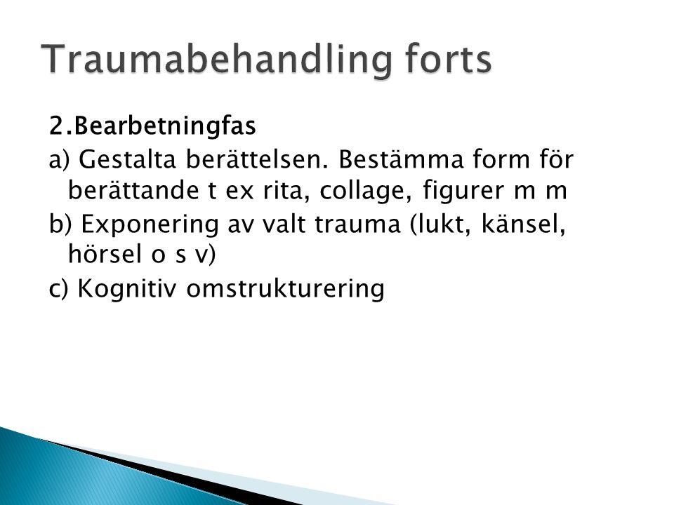 2.Bearbetningfas a) Gestalta berättelsen.