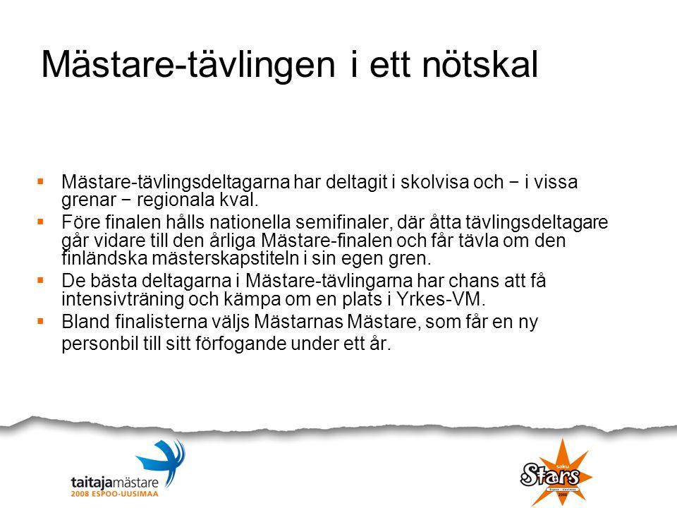 Delegationen för Storevenemanget inom yrkesutbildning 2008  Marketta Kokkonen, Espoon kaupunki, pj.