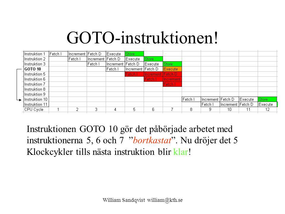 William Sandqvist william@kth.se Olika lösningar på hopp-problemet Branch Prediction (speculative branching) – Hoppgissning, gissar man rätt vinner man tid, gissar man fel måste pipelinen startas om .